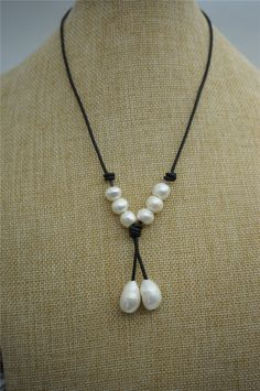 A personal favorite from my Etsy shop https://www.etsy.com/listing/228012161/high-lusterleather-pearl-necklace-pearl