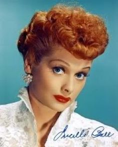 Lucille Ball short hair red retro vintage - Doubt I could do this too.