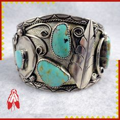 Native American Turquoise Jewelry | ... -silver-bracelet-ROYSTON-turquoise-Handmade-Native-American-jewelry