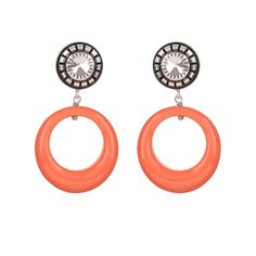 Browse Coral Pop Earrings and more from julie sion at Wolf & Badger - the leading destination for independent designer fashion, jewellery and homewares. Coral Earrings, Coral Jewelry, Drop Earrings, Jewellery Earrings, Coral Dress, Silver Plate, Washer Necklace, Clock