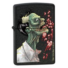 Zippo Lighter - Zombie Brains Black Crackle ZCI007293 - $23.05. Promo: ZIPPO2013 - 3% off all Zippo Products. Free Shipping. No Minimum. 24/7