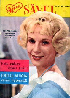 PopuLAARI: Ajan Sävel -kansia (1959). Bibi Andersson, ruotsalainen elokuvatähti