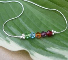 Sterling Silver and Swarovski Crystal Anklet by simplysarahbeads, $19.00