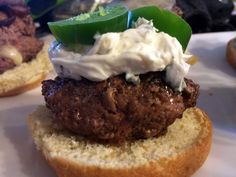 Today a jalp,bacon cream cheese burger.topped with white queso.bacon jap raspbery jam and m.sweet brea like hiding a shank or bad skank.LOL that a joke for those that dont get it. Baby Food Recipes, Whole Food Recipes, Bison Recipes, Bison Meat, Appetizer Recipes, Appetizers, Cream Cheese Stuffed Jalapenos, Burgers And More, Snack Items
