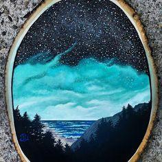 Beach Sky Painting
