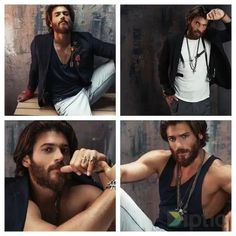 Yaman - Collage Turkish Men, Turkish Actors, How To Look Handsome, Handsome Boys, Mans World, Hair And Beard Styles, Actor Model, Bearded Men, Gorgeous Men