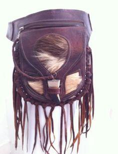 Moroccan-Handcrafted-Leather-Boho-Hippy-Belt-Bag-Natural-Leather-Goat-Skin