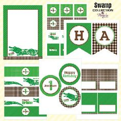 Swamp Party Printable Collection  As seen on by magnoliacreative, $30.00