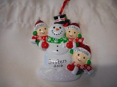 5 family snowman with peple ornament personalized christmas