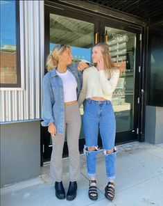 Cute Casual Outfits, Outfits For Teens, Simple Outfits For School, Bff, Besties, Teen Fashion, Fashion Outfits, Friend Outfits, Aesthetic Clothes