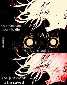 Vous pensez que vous voulez mourir, mais en réalité, vous voulez juste être sauvé.