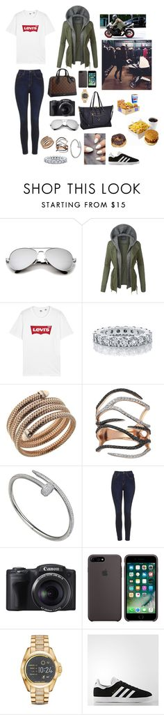 """""""Sin título #1498"""" by sabrinnatorres ❤ liked on Polyvore featuring Ralph Lauren, LE3NO, Levi's, Roberto Coin, Kismet by Milka, Cartier, Topshop, Louis Vuitton, Michael Kors and adidas"""