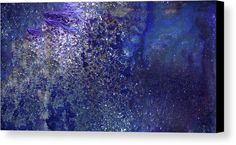"""RAINY NIGHT"" - Blue Contemporary Abstract  Art painting by Gordan P. Junior. Modern Bedroom Decor, Modern Bedroom , Modern Living Room Decor. Up To 84"" Longer Side Wall Art (Canvas And Framed Prints)"