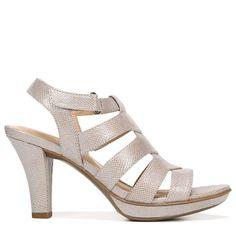 2017 New Naturalizer Dahlia MediumWide Dress Sandal Grey Fabric