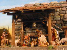 establo de belen - Buscar con Google Christmas Art, Arts And Crafts, House Styles, Hang, Nativity Scenes, Home Decor, Ornaments, Google Search, Xmas