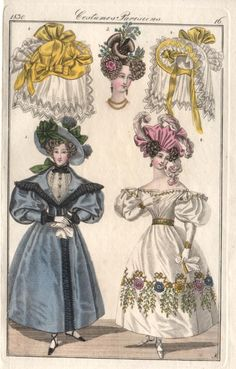 Fashion plate, French, 1830.
