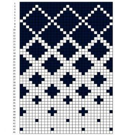 Tapestry Crochet Patterns, Fair Isle Knitting Patterns, Sweater Knitting Patterns, Knitting Charts, Weaving Patterns, Knitting Stitches, Knitting Designs, Crochet Diagram, Crochet Chart