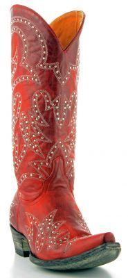 Womens Old Gringo Lauren Studded Boots Red #L1099-1 via @Chris Allen & Cheryl Smith Boots