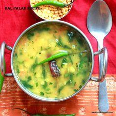 Dal Palak / Palak keerai Paruppu masiyal / Spinach Lentils Curry - pressure cooked, Gluten Free, Vegan