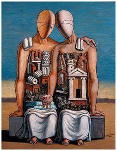 'The Archaeologists', Giorgio de Chirico