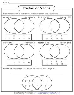 This Venn Diagram Worksheet is a great template using two sets. Use ...