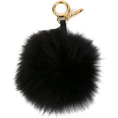 Fendi pom-pom bag charm (4.295.855 IDR) ❤ liked on Polyvore featuring accessories, black and fendi