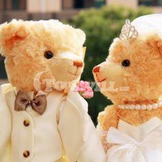 Wedding Teddy Bears   ... Teddy Bear > Wedding Dress Teddy Bear > Romantic Wedding Teddy Bear in