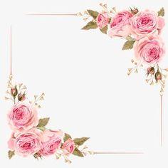 Moldura de Rosas, Rosa, Rosa Cor - De - Rosa, Moldura Imagem PNG