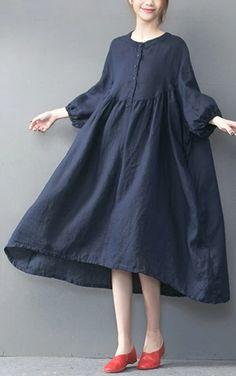 Long Summer Dresses, Summer Dress Outfits, Simple Dresses, Casual Dresses, Fashion Dresses, Linen Dresses, Cotton Dresses, Designs For Dresses, Designer Dresses