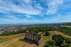 Calton Hill Park Pillars by Randy Dorman