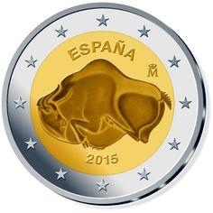 moneda conmemorativa 2 euros España 2015 Altamira.