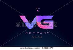 vg v g creative color blue background pink purple blue magenta alphabet letter company logo vector icon design