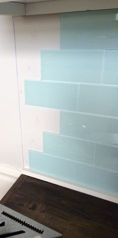 DIY Peel and Stick Glass Tile Backsplash More