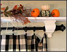 Shelf and curtain window treatment