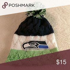 Seattle Seahawks hat Never worn. Handmade Accessories