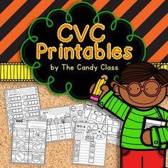 CVC NO PREP Printables $