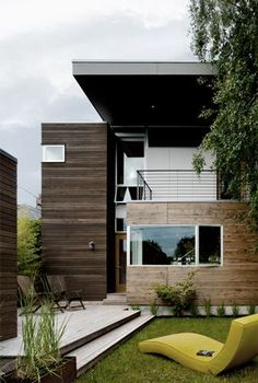 Push pull house in Seattle, Washington by mw works architecture+design Architecture Design, Beautiful Architecture, Residential Architecture, Building Architecture, Modern Exterior, Exterior Design, Espace Design, Casas Containers, Facade House