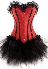 Atomic Red and Black Satin Juliette Dress   Atomic Jane Clothing www.atomicjaneclothing.com