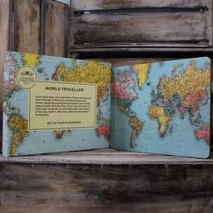 Set-Of-4-Vintage-World-Map-Cork-Placemats-Retro-Dining-Table-Plates-Place-Mats