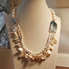 Collana girocollo turchese e perle