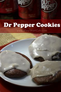 chocolate cake mix + dr. pepper = dr pepper cookies