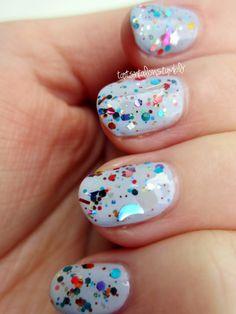 Woo: Tangent - Custom Glitter Franken Nail Polish / Lacquer Full Size. $9.00, via Etsy.