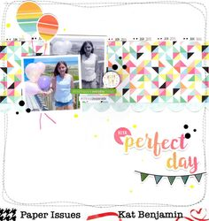 perfect day (paper issues) || happyGRL - Fancy Pants Designs - Joy Parade Collection