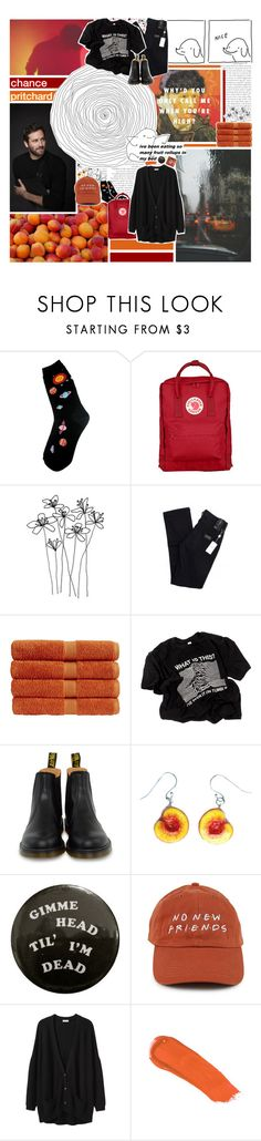 """""""I love you but I need another year alone"""" by impossibleyear ❤ liked on Polyvore featuring Foot Traffic, Fjällräven, Giorgio Armani, Christy, Dr. Martens, Organic by John Patrick and rms beauty"""