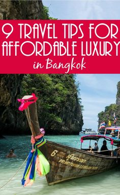 9 travel tips for affordable luxury in Bangkok. Bangkok is one of the most affordable cities in the world for luxury travellers. Here are nine Bangkok travel tips to ensure you arrive revived, and ensure you enjoy the culture, fun and glamour of Thailand's capital.