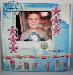 Scrapbook page digital with Dragons Lair Designs NEW O Baby Mine kit