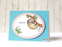 Creative Cardsea: Hellloo... with Lawn Fawn