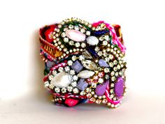 The Original Diamonds are a Girl's Best Friendship Cuff-  Juliet on Etsy, $400.00