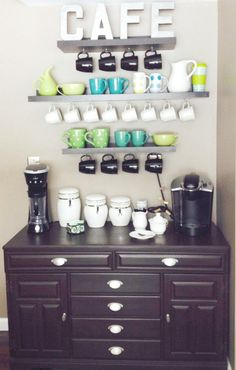 DIY Coffee Bar is super cute!