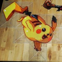 "Pikachu - Pokemon perler beads by ThePerlersEdge (20""x 21"")"